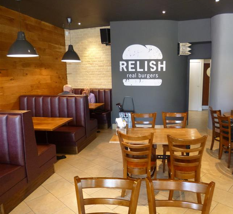 Relish is a really good burger point, Located in Alban Arena, St Albans